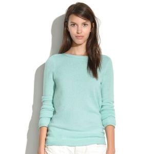 "Madewell aqua blue ""Gamine"" merino wool sweater"